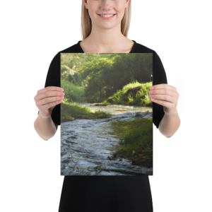 Meandering River Impressionistic Art Effect Canvas