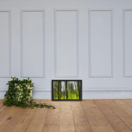 Snake Grass – Framed poster on wooden floorboards