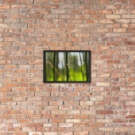 Snake Grass – Framed poster on brick wall